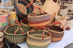 Beautiful Baskets, French Market. Favorite type of baskets!!