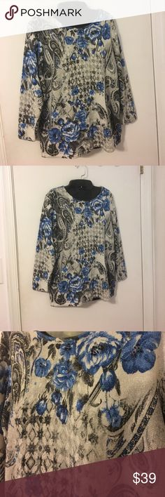 Alfred Dunner Designer Top Excellent Condition Details are absolutely stunning perfect for the upcoming Fabulous Fall Fashions. Additional information provided above If you have any questions please don't hesitate to ask ❤️ Alfred Dunner Tops