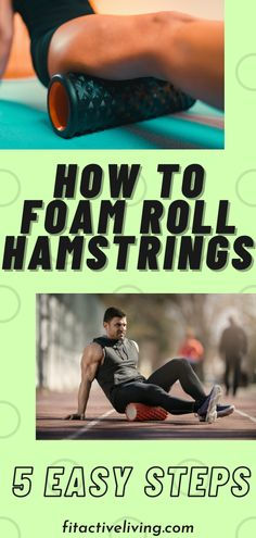 How To Foam Roll Hamstrings - Foam rolling is a great technique to help relieve tight, sore and inflamed hamstrings. In addition to how to foam roll hamstrings, we cover knowing when to foam roll hamstrings, how long you should foam roll and when not to foam roll. We are confident that if you begin foam rolling regularly, you will begin to notice a difference in your tight and overworked hamstrings! Health And Wellness Coach, Health And Fitness Tips, You Fitness, Fitness Motivation, Foam Rollers, Workout Guide, Sore Muscles, Diet And Nutrition, Stay Fit