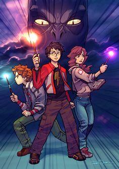 """Oi gente, tudo bem?   Eu vou postar algumas Fanarts  de Harry Potter .   Para ver as Fanarts  clique em """"Leia Mais"""""""