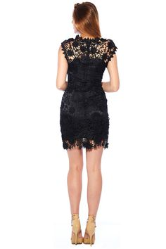 Black Lace Dress Made of High Quality Lace by 12AMPARTY on Etsy