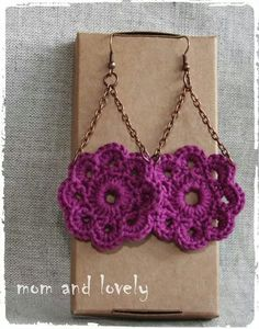 Crochet Jewelry Patterns, Crochet Earrings Pattern, Bead Crochet, Crochet Accessories, Crochet Motif, Diy Crochet, Crochet Designs, Crochet Stitches, Crochet Baby