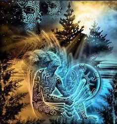 This is an image that portrays the transformation I am undergoing now ... Going to sacred places of ancient ancestors