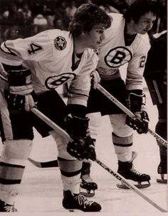 1975- Bobby Orr (#4) and Brad Park (#22) . . .