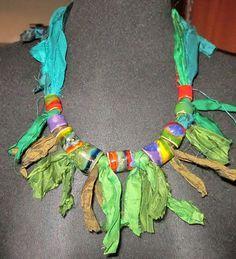 Silk Tassel DIY Jade Green Imported Sari Silk Ribbon Jewelry DIY 5 yards