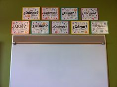 posters for language classes Creating my Spanish classroomCreating my Spanish classroom High School Spanish, Elementary Spanish, Spanish Teacher, Teaching Spanish, Teaching French, Dual Language Classroom, Bilingual Classroom, Bilingual Education, Education Logo