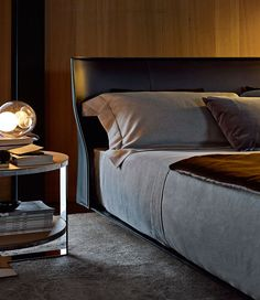 Bed: ALYS - Collection: B&B Italia - Design: Gabriele and Oscar Buratti B&b Italia, B & B, Bed Design, Bedding Collections, Modern Design, Contemporary Design