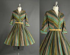 Full Skirt Dress Vintage 1950s Dress full skirt by NodtoModvintage, $140.00