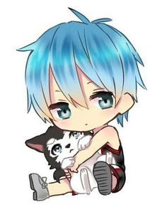 Uploaded by Shizuka. Find images and videos about anime, chibi and kuroko no basket on We Heart It - the app to get lost in what you love. Kuroko Chibi, Chibi Boy, Cute Anime Chibi, Cute Anime Boy, Neko Boy, Chibi Eyes, Anime Boys, Otaku Anime, Manga Anime
