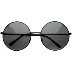 Oversize Vintage Inspired Metal Round Circle Sunglasses 8370 (€8,90) ❤ liked on Polyvore featuring accessories, eyewear, sunglasses, glasses, occhiali, oversized sunglasses, oversized glasses, vintage style sunglasses, circular glasses and rounded sunglasses