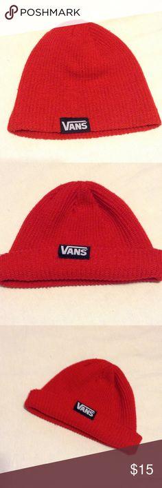 Vans red beanie⚪️ 100% acrylic Vans Accessories Hats