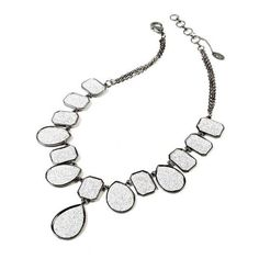 platinum-finds ~ Products ~ Amrita Singh Silver Drop Necklace ~ Shopify