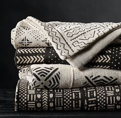 Handwoven African Mud Cloth Throw