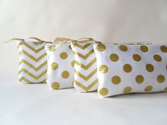 Bridesmaids clutch gold bridesmaids gift ideas gold by PaperFlora