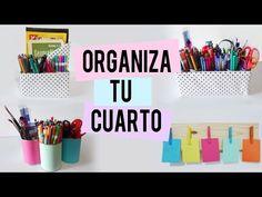 Organiza y decora tu cuarto - organizadores - Tutoriales Belen - YouTube