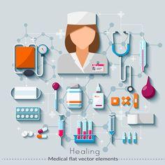 Vector medical set on Behance