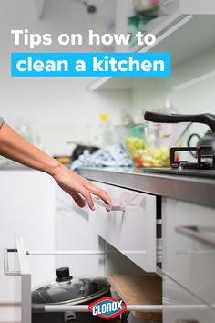 Heres some food for thought - check out this guide and learn how easy it is to clean one of the most used rooms in the house! Homemade Cleaning Supplies, Household Cleaning Tips, House Cleaning Tips, Diy Cleaning Products, Cleaning Solutions, Spring Cleaning, Cleaning Hacks, Grill Cleaning, Car Cleaning