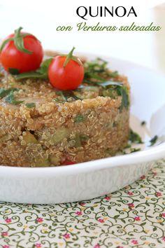 Quinoa con Verduras Salteadas #singluten Buenos días!!! Hoy toca comer sano.