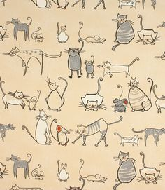 Save 45% on our Charcoal Cat & Mouse Contemporary Fabric. This Regular fabric is perfect for Curtains & Blinds.