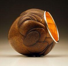 "David Huang: ""Layered Resplendence #3"" vessel (collaboration with David Barnhill)"