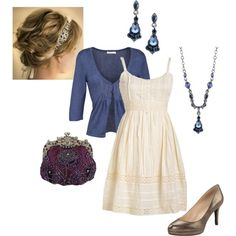 """""""Antique"""" by kaseyofthefields on Polyvore (The dress is too short, but love the idea of this outfit.)"""