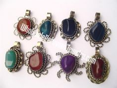 Agate Pendants - Handmade Wholesale Peruvian Jewery for Stores and Gifts