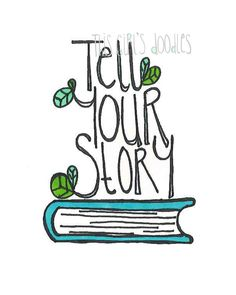 Tell Your Story Printable Doodle Art by thisgirlsdoodles on Etsy, $7.50