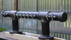 I've seen this in a local bar. Pinning this for later. Iron Pipe Beer Taps