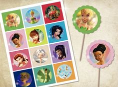 Printable cupcake toppers tinkerbell disney by MagicalParty, $6.00