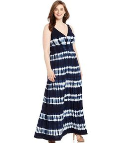 39a75e6268a83 INC International Concepts Plus Size Tie-Dyed Maxi Dress Plus Sizes -  Dresses - Macy s