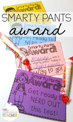 Smarty pants award!