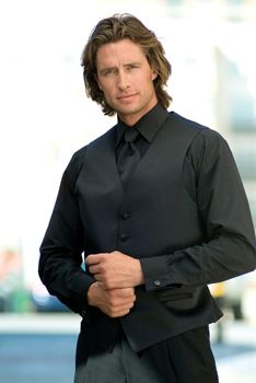 All Black Tuxedo Shirt