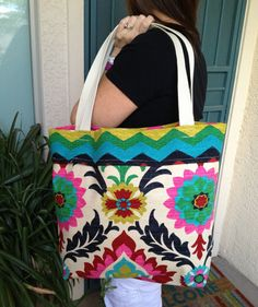 Tote bag reversible tote Travel tote Carry tote by SweetMagnoleah, $25.00