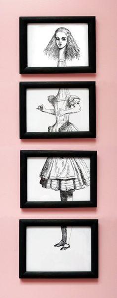 Alice in Wonderland A6 4x6 Alice Growing by WonderlandShop