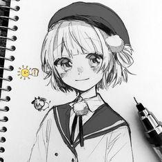 しぐれうい (@ui_shig) | Twitter Cute Sketches, Anime Drawings Sketches, Anime Sketch, Cute Drawings, Pen Sketch, Create Anime Character, Anime Character Drawing, Manga Drawing, Manga Art