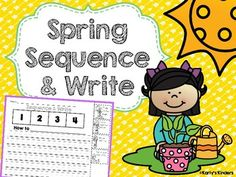 """In this spring-themed writing activity, students must cut out pictures and glue them in the correct sequence. Student must then write a """"how to"""" (expository) writing piece to correspond with the pictures. If you like this product, you will LOVE  Spring Opinion Writing Easter No Prep Math & Literacy Pack Spring No Prep Math Pack Spring Noun & Verb Color it! ================================================I would love to hear from you, please leave me a rating & comment!"""