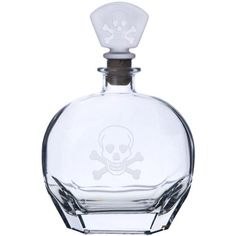 Special Offers - Skull & Cross Bones Glass Whiskey Decanter  23 oz - In stock & Free Shipping. You can save more money! Check It (June 23 2016 at 03:04PM) >> http://uniquewineglass.net/skull-cross-bones-glass-whiskey-decanter-23-oz/