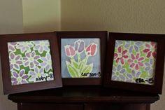 Batik-like paintings by kids