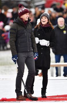 Good sports! Kate and William appear as though they're having fun together, something which is crucial if competitiveness in a relationship is to remain healthy