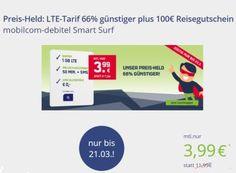 Knaller: LTE-Flat mit Freiminuten / -SMS dank Holidaycheck-Gutschein komplett gratis https://www.discountfan.de/artikel/tablets_und_handys/knaller-lte-flat-mit-freiminuten-sms-dank-holidaycheck-gutschein-komplett-gratis.php Eine LTE-Flat mit 50 Freiminuten und 50 Frei-SMS ist jetzt für kurze Zeit rechnerisch komplett gratis zu haben: Den Vertragskosten von 95,76 Euro steht ein Holidaycheck-Gutschein über 100 Euro ohne Mindestbestellwert gegenüber. Knaller: LTE-Flat mit F