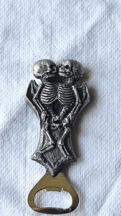 conjoined skeletons bottle opener   $30 - click on the photo for a direct link -  http://goreydetails.net/shop/index.php?main_page=product_info=70_71_id=1771