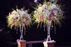 this style of vase..more wildflower and loose using your wedding flower choices