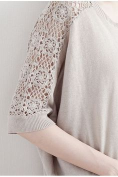 crochet & fabric top