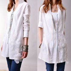 Flying flowers  organza laced artist tunic by idea2lifestyle, $55.00