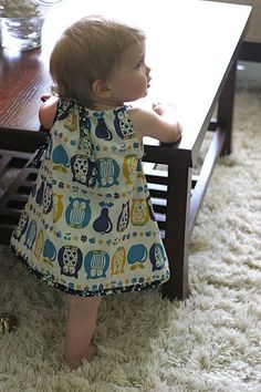 Make for Baby: 25 Free Dress Tutorials for Babies & Toddlers: Pillow case dress with b