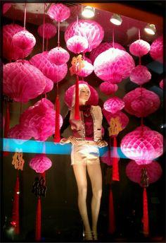 Chinese New Year Theme @ Central Chidlom, Bangkok   Window Display @ Bangkok, Thailand