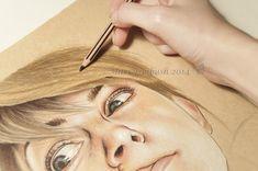 Artystyczne Ciekawostki Marcysibush: Jak rysować włosy kredkami ?