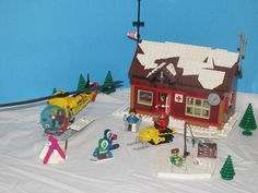Winter Village: First Aid / Search & Rescue cabin by soundwave_sw on EB - LEGO