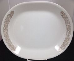 Corelle  WOODLAND BROWN  10 x12  Serving Platter & Corelle Snowflake Blue   Corelle   Pinterest   Blue dinnerware ...