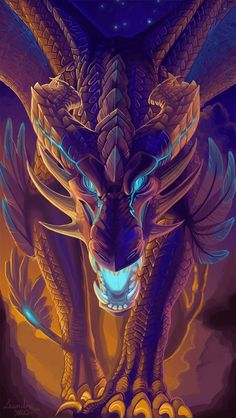 Dragon Art by Leundra Magical Creatures, Fantasy Creatures, Tiamat Dragon, Fantasy World, Fantasy Art, Memes Arte, Cool Dragons, Dragon Artwork, Dragon Pictures